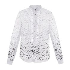 Thierry Colson Peggy polka-dot print blouse ($138) ❤ liked on Polyvore featuring tops, blouses, shirt blouse, polka dot shirt, victorian shirt, white blouses and lace up blouse