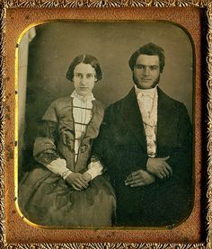 I think this little married couple from 1850 is absolutely adorable.  I bet there's a great love story here :)