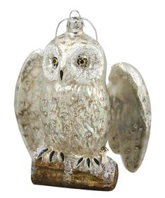 Cody Foster & Co. Owl on Log Ornament | zulily