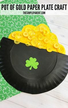 Make this easy and fun Pot of Gold Craft for Kids to celebrate St. patricks crafts for seniors Try This Easy Pot of Gold Craft for Kids to Celebrate St. Saint Patricks Day Art, St. Patricks Day, St Patricks Day Crafts For Kids, Winter Crafts For Kids, Crafts For Kids To Make, Kids Crafts, Art For Kids, Spring Crafts, Kids Diy