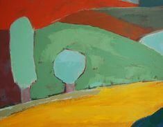 Agnès Cellérier, Au loin, la montagne noire Contemporary Landscape, Contemporary Artists, Street Art, Art En Ligne, Loin, Oeuvre D'art, Les Oeuvres, Painting, Painting Styles