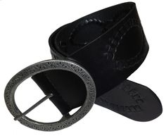 Lucky Brand Womens Leather Belt Wide Whipstitched Big Buckle Black XS NEW $69.50 #LuckyBrand