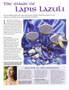 Crystals & Stones:  The Magic of #Lapis #Lazuli.