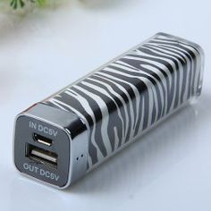 $9.58 Fashion Zebra-stripe Design 2500mAh Mobile External Power Battery Charger for Various Mobile Phones and Digital Devices