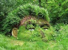 Grass Sculputre of head