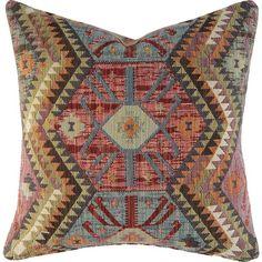 CR Laine Kilim Down Geometric Throw Pillow Orange Throw Pillows, Toss Pillows, Accent Pillows, Floor Pillows, Decorative Throw Pillows, Pillows Online, Geometric Throws, Aztec Designs, Tribal Patterns