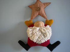 SANTA  Holiday Decor  Christmas  Quirky