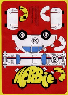 Herbie ( and others from: http://voices.yahoo.com/free-printable-classic-disney-movie-activities-2964445.html )