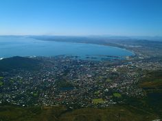 Amazing view of beautiful Cape Town from atop 1,085m-high Table Mountain. South Africa, 2011.