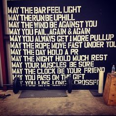 An Irish CrossFit blessing