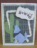 Howdy! Cricut Card using Old West Cricut Cartridge