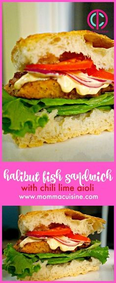 Halibut Fish Sandwic