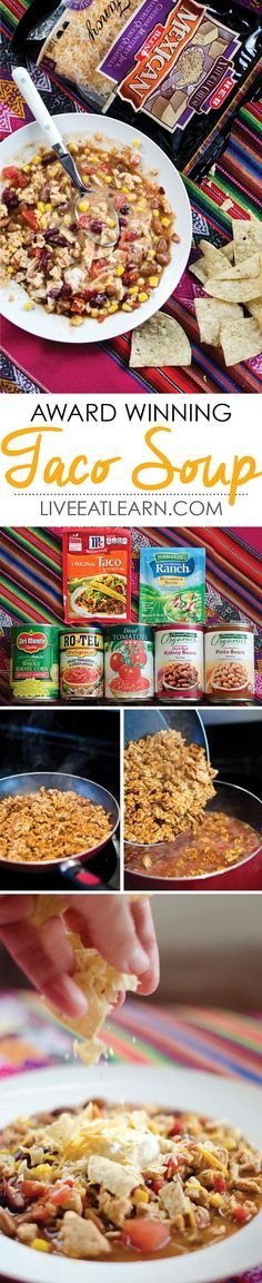 Taco Soup, so easy and absolutely delicious // Live Eat Learn                                                                                                                                                                                 More
