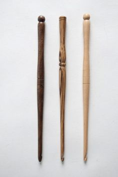 These crochet hooks look like wands. That means I need them.
