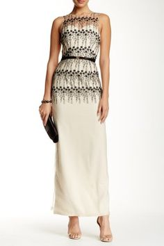 31b9b6c2959c Little Mistress | Sleeveless Embroidered Maxi Dress | HauteLook