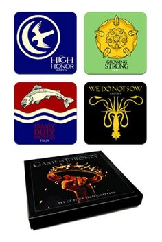 Set 4 Posavasos - #JuegoDeTronos #GameOfThrones