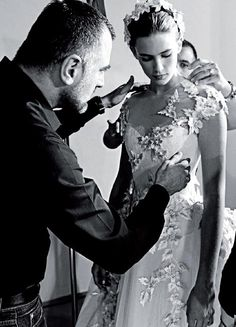 Backstage Georges Hobeika  Haute Couture Fall-Winter 2012