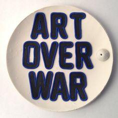 "Polymer Clay ""Art Over War"" Incense Holder"