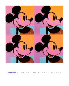 """This Andy Warhol Foundation rare vintage 1995 offset lithograph print Pop Art poster """" Mickey Mouse """" is a very special and unique piece to a. Andy Warhol Pop Art, Andy Warhol Obra, Andy Warhol Prints, Warhol Paintings, Art Paintings, Paintings Famous, Art Disney, Disney Kunst, Jasper Johns"""