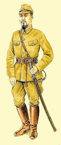 Pin by Paolo Marzioli. Governo Reformado Chinês   General de Divisão   Guerra Sino-Japonesa, 1939           O General-de-Divisão ao lado pertence ao Go...