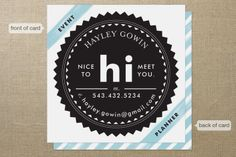 Sealed Success Business Cards by Alethea and Ruth at minted.com