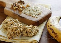 Chewy Low Fat Banana Nut Oatmeal Cookies - Move over chocolate chip cookies, I just found my favorite new cookie!