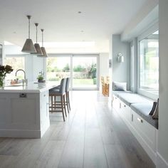 Bright and airy kitchen with a soft grey palette. Friday's Favourites.