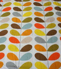 ORLA KIELY Original Stem Fabric New 110 X 130cm H **SALE**Retro Vintage Cotton in Möbel & Wohnen, Hobby & Künstlerbedarf, Stoffe | eBay