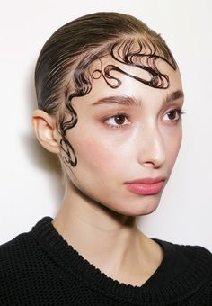 Wet hair look // John Paul Gaultier S/S 15