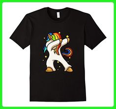Mens Unicorn Cute Dabbing Shirt | Funny Dab Dance Gift T-Shirt Medium Black - Fantasy sci fi shirts (*Amazon Partner-Link)