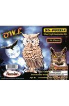 Owl 3-D Puzzle: Wood Craft Construction Kit