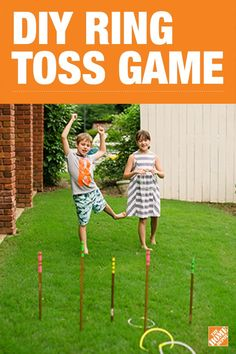 This DIY ring toss game is sure to provide fun for the whole family. Set it up in the backyard or bring this easily portable game to the beach or park for hours of friendly competition. Click to visit our blog and learn how to build your own game using just tape, copper pipes, and metal cable.