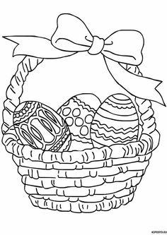 kiskosár, húsvét, tojás, színező, szalag, masni