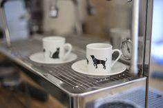 I Love My Dog, parcelánové #hrníčky na #espresso s motivem #kočka a #pes #mugs