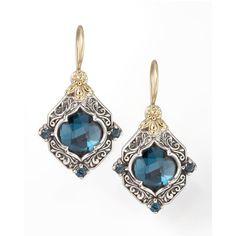 Konstantino London Blue Topaz Drop Earrings (6,520 CNY) ❤ liked on Polyvore