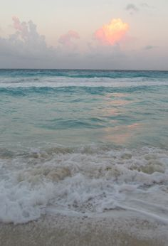 sunset at the beach...gorgeous color of the water