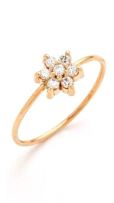 ginette_ny Diamond Star Ring | love the small band and delicate design. stunning