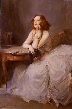 Philip Alexius Laszlo de Lombos, Portrait of Miss Anny Ahlers, 1933