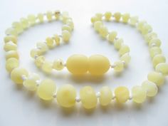 Raw Unpolished Baltic Amber Baby Teething Necklace.  Amber has natural anti-inflammatory and pain relieving properties.
