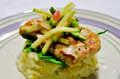 Pork Tenderloin with Apples & Mashed Potatoes
