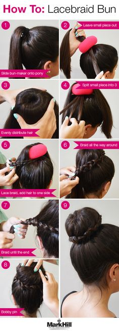 Put a twist on the classic topknot with this braided detail.