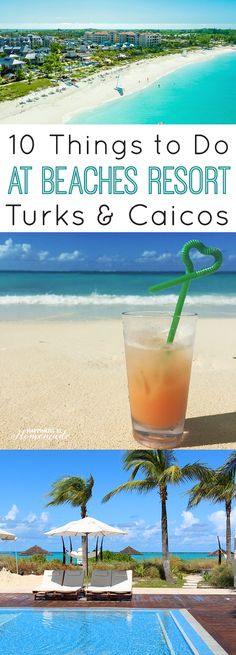 10 Things to Do: Beaches Resorts Turks & Caicos Resort Villages & Spa - an ALL-inclusive family vacation that offers a TON of awesome fun stuff for everyone to do! Just look at that gorgeous turquoise water! [sponsored] Happiness is Homemade