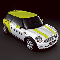 Mini Coopers sold on the Latvian Carrier airBaltic 12/16/2011  The custom paint job features the airlines livery!  centreforaviation.com