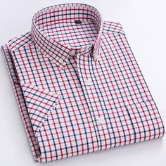 Brand Name: mengquanOrigin: CN(Origin)Material: COTTONApplicable Scene: DailyShirts Type: Casual ShirtsSleeve Length(cm): SHORTStyle: CasualApplicable Season: summerCollar: Square CollarClosure Type: Single BreastedItem Type: ShirtsSleeve Style: RegularGender: MENModel Number: F992Fabric Type: BroadclothPattern Type: P Dickies Shorts, Cotton Shorts, Shirt Sleeves, Types Of Shirts, Casual Shirts, Men Casual, Plaid Dress, Dress Shirts, Fit