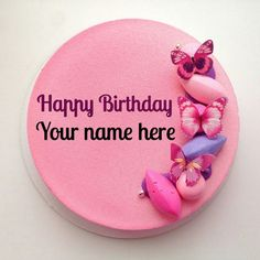 Rose Flavored Birthday Cake With Sister Name, write sister name on rose flavored birthday cake,Artistic butterfly decorated rose birthday cake for sister Write Name On Cake, Birthday Cake Write Name, Cartoon Birthday Cake, Birthday Cake Writing, Happy Birthday Wishes Cake, Creative Birthday Cakes, Special Birthday Cakes, Birthday Cakes For Men, Apple Birthday