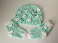 Strickanleitung Baby-Set, Mütze und Socken, ca. 6 - 12 Monate