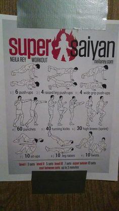 Super Saiyan work out!