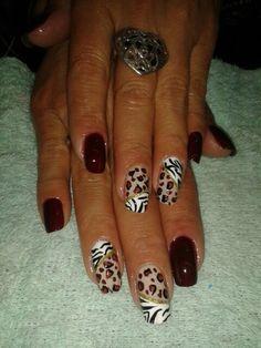 Leopardo Nails, Beauty, Finger Nails, Ongles, Beauty Illustration, Nail, Nail Manicure