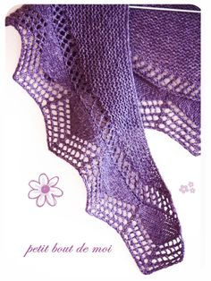 Cassis Shawlette By Collete Audrey - Free Knitted Pattern - (ravelry)