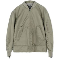 Adidas X Kanye West Jacket ($2,080) ❤ liked on Polyvore featuring jackets, military green, military fashion and adidas